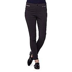 Yumi - grey  Skinny Zipped Pocket Jeans