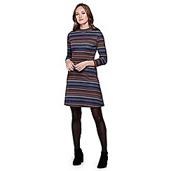 Yumi - Multicoloured  Striped Jersey Dress