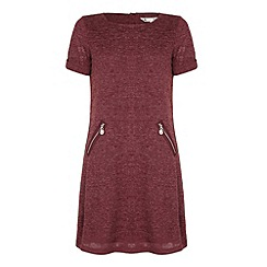 Yumi - Red Short Sleeved Knit Dress