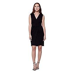 Yumi - Black  Sleeveless Wrap Around Dress