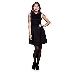Yumi - black  Lace Colla Dress