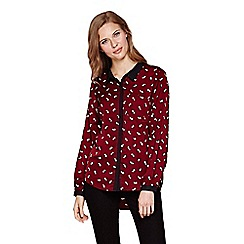 Yumi - Red Panda Print Long Sleeve Shirt
