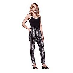 Yumi - Black printed trousers