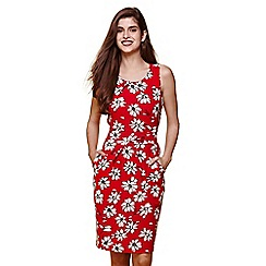 Yumi - Red daisy sketch printed dress