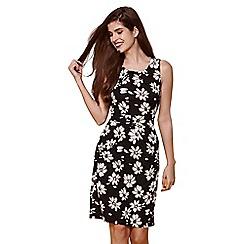 Yumi - Black daisy sketch printed dress