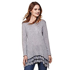 Yumi - Grey lace trim tunic
