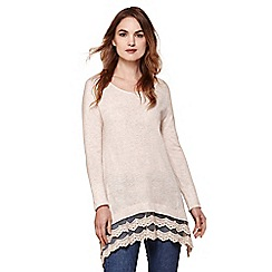 Yumi - Cream lace trim tunic