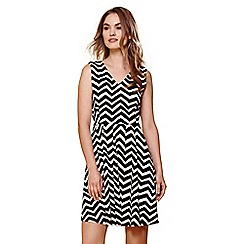 Yumi - Multicoloured chevron v-neck dress