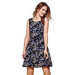 Yumi - Navy floral print dress