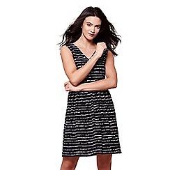 Yumi - Navy stripe sleeveless dress