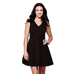 Yumi - Black yumi sleeveless skater dress