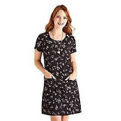 Yumi - Floral short sleeve tunic dress