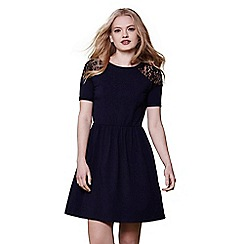 Yumi - Navy Yumi lace panel jersey dress