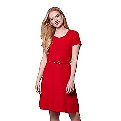 Yumi - Red yumi belted jersey dress
