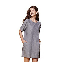 Yumi - Blue stripe denim dress