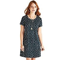 Yumi - Black daisy pattern tunic
