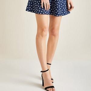 Yumi Blue floral daisy print skirt
