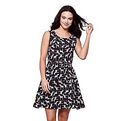Yumi - Black zebra print dress
