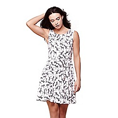 Yumi - White zebra print dress