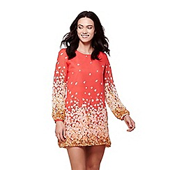 Yumi - Orange floral border tunic