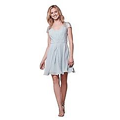 Yumi - Blue lace sleeves dress