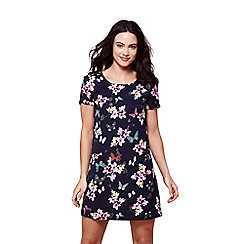 Yumi - Navy butterfly print tunic dress
