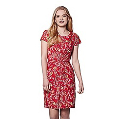 Yumi - Red eastern bird print dress