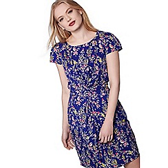 Yumi - Blue eastern bird print dress
