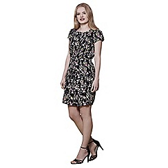 Yumi - Black eastern bird print dress