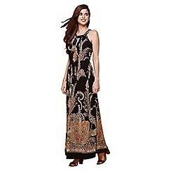 Yumi - Black paisley print dress