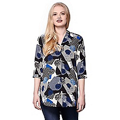 Yumi - Multicoloured print v-neck tunic