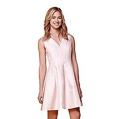 Yumi - Pink jacquard occasion dress