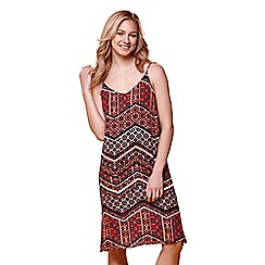 Yumi - Multicoloured multi print strap dress