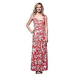 Yumi - Red floral maxi dress