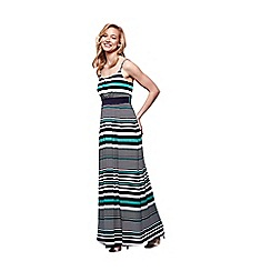 Yumi - Multicoloured multiple striped maxi dress
