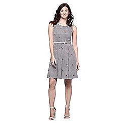 Yumi - Multicoloured stripe embroidered dress