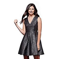 Yumi - Sleeveless metallic skater dress