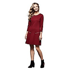 Yumi - Red 'Antonia' zip pocket tunic dress
