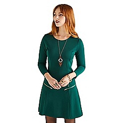 Yumi - Green pocket zipped 'Ella-louise' mini shift dress