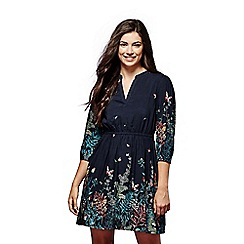 Yumi - Flower border printed dress