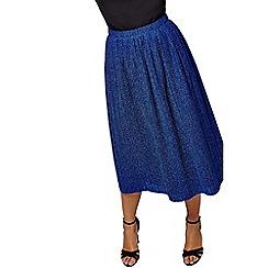 Yumi - Metallic pleated skirt