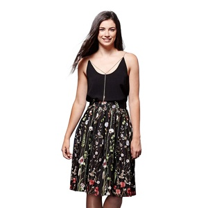 Yumi Floral embroidered skirt