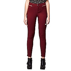 Yumi - Red double pocket jeggings