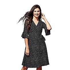 Yumi - Dash patterned wrap dress