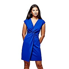 Yumi - Blue twisted ruched dress