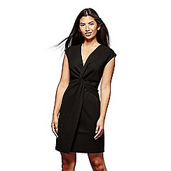 Yumi - Black twisted ruched dress