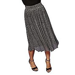 Yumi - Pleated lurex skirt