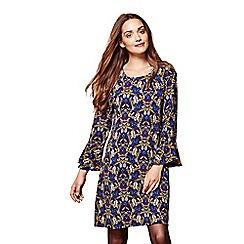 Yumi - Blue floral print 'Nikita' mini tunic dress