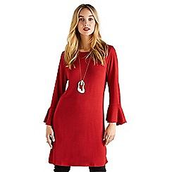 Yumi - Orange wool touch 'Trinityá' mini shift dress