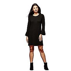 Yumi - Black wool touch 'Trinity' mini shift dress